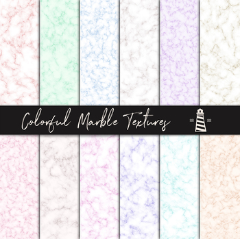 Colorful Marble Digital Paper