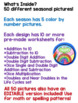 Back To School Colorful Math BUNDLE