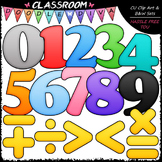 Colorful Math Numbers & Symbols Clip Art - Math Clip Art