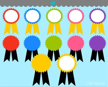 Colorful Medals Clip Art