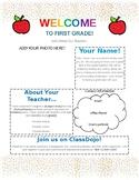 Colorful Meet the Teacher! Easy Edit