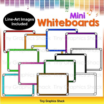 Colorful Mini Whiteboards