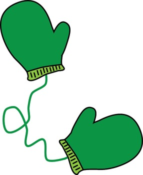 Colorful Mittens Clipart
