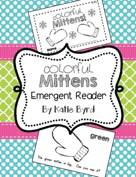 Emergent Reader - Colorful Mittens