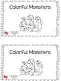Colorful Monsters Emergent Reader