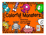 Colorful Monsters with literacy, writing, math, problem solving, art and science