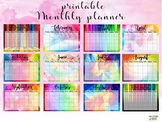 Colorful Monthly Planner