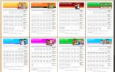 2017-2018 Editable Monthly Reading Calendar/Log - Reading