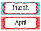 Months of the Year: Colorful