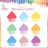 Colorful Muffins Clipart- FREEBIE