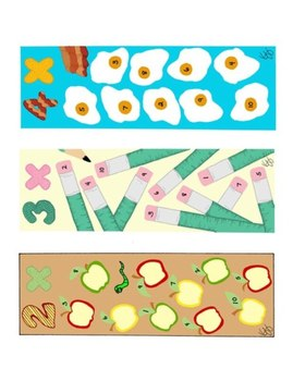 Colorful Multiplication Math Bookmarks Two Through Ten PDF Printable