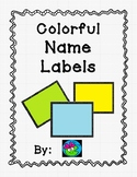 Colorful Name Labels