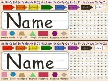 Colorful Name Plates