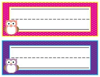 Colorful Name Plates {4 Varieties}