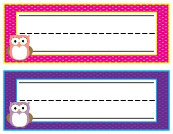 Colorful Name Plates {4 Varieties}
