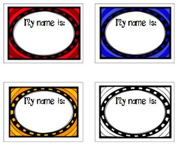 Colorful NameTags