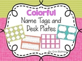 Colorful Name Tags and Desk Plates