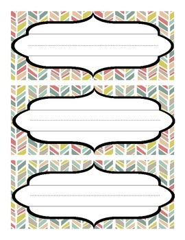 Colorful Name tags