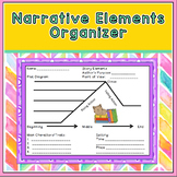 Colorful Narrative Elements Graphic Organizer