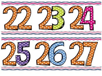 Colorful Nautical Number Line 0-120 for Classroom Display