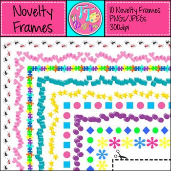 Colorful Novelty Frames Clip Art CU OK