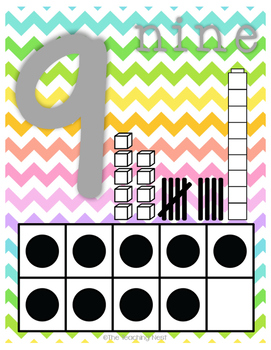 Colorful Number Charts 0-20! - Cheerful Design