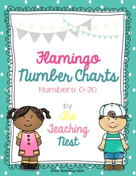 Colorful Number Charts 0-20! - Flamingo Design