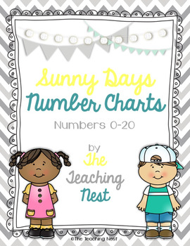 Colorful Number Charts 0-20! - Sunny Days Design