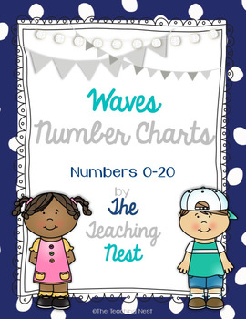 Colorful Number Charts 0-20! - Waves Design