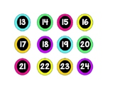 Colorful Number Labels