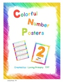 Colorful Number Posters 0-9