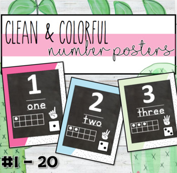 Colorful Number Posters # 1 - 20