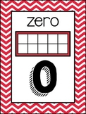 (Colorful Chevron) Number Posters (with Visuals)