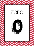 (Colorful Chevron) Number Posters