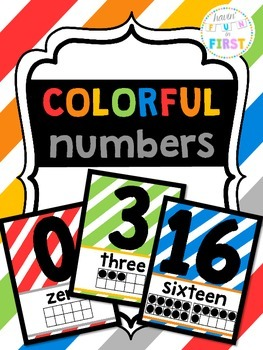 Colorful Number Posters (with ten-frames) {FOREVER FREEBIE}