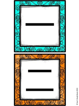 Colorful Number Posters/Cards 数字 1-10 (3 sizes)