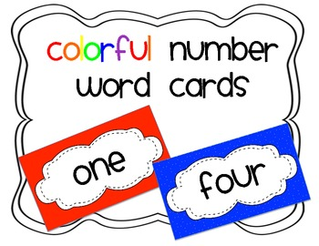Colorful Number Words for Word Wall