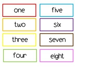 Colorful Numbers, Number Words & Picture Quantities
