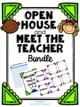 Colorful Open House & Meet the Teacher Donations Sign-in