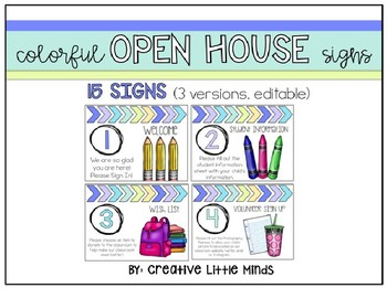 Colorful Open House Signs