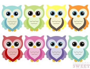 Colorful Owl Clip Art 1