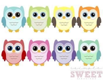 Colorful Owl Clip Art 3