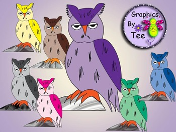 Colorful Owl Clipart