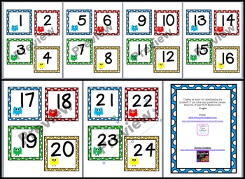 Colorful Owl Number Cards (1-24)