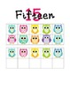 Colorful Owl Ten Frame Poster