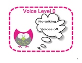 Colorful Owl Voice Level Charts