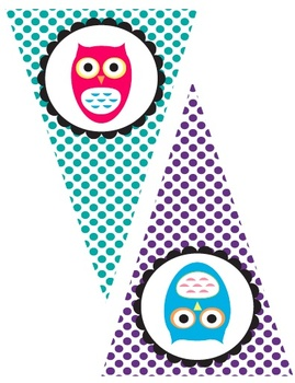 Colorful Owl Welcome Banner