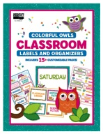 Colorful Owls Classroom Labels and Organizers