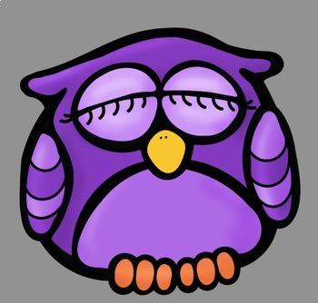 Colorful Owls Clip Art