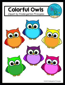 Colorful Owls Clipart FREEBIE!